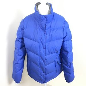 LL Bean Goose Down Periwinkle Puffer Jacket